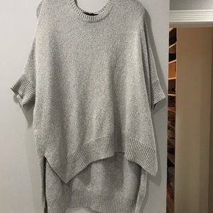 High low gray sweater